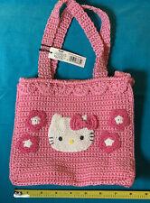 "1999 Licensed Sanrio Japan Hello Kitty Rare Crocheted 8"" Pink Handbag NWT 90s"