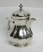 Right Size European Silver Cream Pitcher With Lid