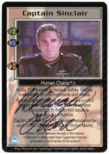 Babylon 5 CCG Severed D. Embossed Card Captain Sinclair Michael O'Hare Autograph