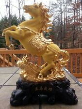 """23""""H Chinses Lucky Money Wealth Horse Statue"""