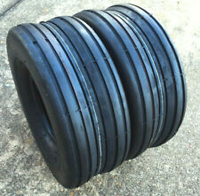 (2) Two 15x6.00-6 Smooth Rib Tubeless Tires 15 600 6 Hay Tedder Lawn Tractor