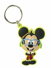 Disney Mickey Mouse Nerd Nerds Green Standing Keychain Keyring Key Ring Chain