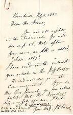 John Larkin Lincoln (1817-1891) Author Brown University Autograph Letter 1 pg.