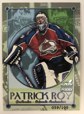 1999-00 Aurora Championship Fever Ice Blue #8 Patrick Roy /100 - NM-MT