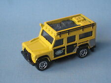 Matchbox Land Rover 110 Defender Yellow Safari 4x4 Off Road Toy Model Car 70mm