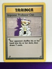 ↓↓ Pokémon Base Set Non Holo Imposter Professor Oak 73/102
