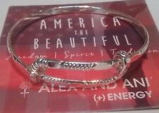 ALEX AND ANI AMERICA THE BEAUTIFUL Amber Waves SHINY Silver Color Bracelet ❤️..