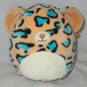 """Kellytoy Squishmallows 5"""" Live the Teal Leopard Plush Soft Toy Stuffed Animal"""