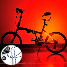 Bike Bicycle Wheel Valve Spoke LED Light Lamp Strap Bar 5 Lighting Colors 8 Mode