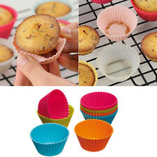 6pcs Round Soft Silicone Cake Muffin Chocolate Cupcake Liner Baking Cup Mold SP
