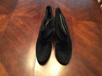 Black Suede LEATHER KENNETH COLE 9 M Ankle Boots SHOOTIES FINE FRENZY EUC