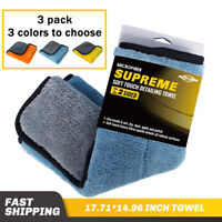 3 Pack 800GSM Microfiber Drying Cloth Home Cleaning Towel Car Polish Wash Cloth
