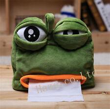 Schöne traurige Frosch Pumpschale Tissue Box Papierhalter Fall Büro Dekor