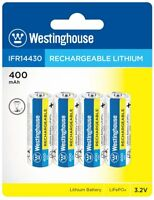 Westinghouse Battery IFR 14430 3.2v 400 mAh Lithium Iron Phosphate LiFePO4 Solar