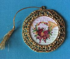 We Wish You A Merry Christmas & A Happy New Year Ornament Royal Albert Porcelain