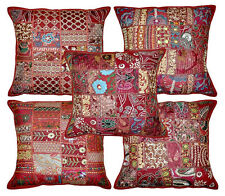 5pc Indian Bohemian Pillow Patchwork Pillow Indian Cushion Cover  Decorative art