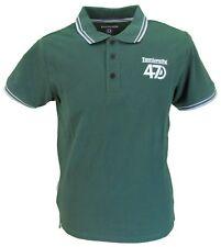 Lambretta Green 47 Twin Tipped Retro 100% Cotton Polo Shirt …