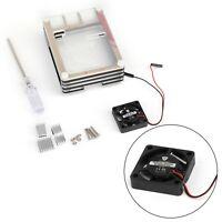 9 Layer Acrylic Case with Cooling Fan Heatsinks For Raspberry Pi 4 4B Model B T5
