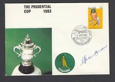 PRUDENTIAL Cup 1983-Primo Giorno Custodia firmata da Allan bordo