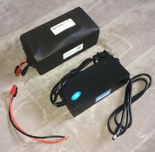 36V 16Ah Li-Ion Battery Pack w/ BMS + 3.0A Charger for ebike Electric Bicycle!