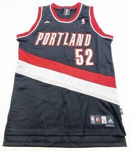 Adidas Portland Trailblazers Jersey Adult Medium Black #52 Greg Oden