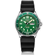 Rotary Super 7 Hulk Scuba Diver Auto Green Dial Silicone Strap Men Watch S7S003S