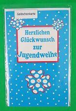 SUSY CARD Jugendweihekarte Klee 170 x 110 mm, 3 Stück