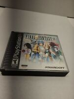 Final Fantasy 9 - Sony PlayStation 1 Case and 4 Disc's Tested Fast Shipping