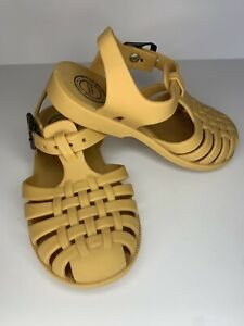 Sweethoney Whim and Wander Yellow Mustard Jelly Sandals Toddler Size 8