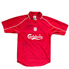 Robbie Fowler And Dietmar Hamann Signed Liverpool 2001 Shirt With COA