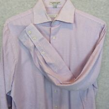 Tommy Hilfiger Mens Shirt Large Pink Blue Check Plaid Long Sleeve