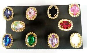 JEWEL DELIGHT Push Pins - Set Of 10 Handmade Decorative Office Memo Board