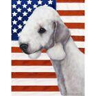 Patriotic (D2) Garden Flag - Bedlington Terrier 321321