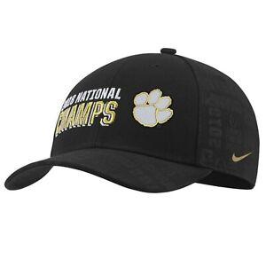 Nike College Football Clemson Tigers 2018 National Champs Black Adjustable Hat
