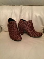 Leopard Print Size Five Ankle Boots Vgc