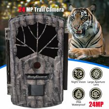 Boly Trail Game Camera 24MP 1080P with Night Vision Motion Activated 100ft range