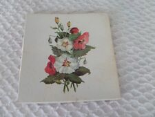 Vtg 2 ladies Machine Embroidered Ladies handkerchiefs in floral lid box