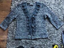 Per Una Grey Cardigan Size M (12-14) (b6)