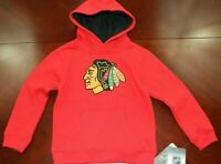 NHL Kids Apparel Chicago Blackhawks Embroidered Logo Youth Sweater Size Med. 5/6