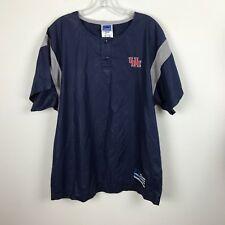 Mens Adidas UH Warmup Baseball Jacket Size M Blue Short Sleeve Polyester