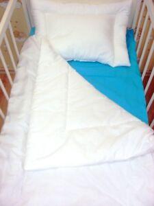 Anti-allergy Baby PILLOW+DUVET QUILT 120x90cm fit Cot / 135x100cm Cot Bed