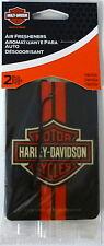 Harley-Davidson 2-pack Vanilla Air Freshener Classic Orange Logo Car Truck NEW