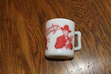 Vintage 1950's Hazel Atlas RED Hopalong Cassidy Coffee Cup/Mug.Glass, TV Actors