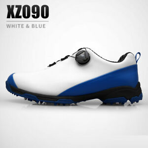 PGM Mens Golf Shoes Waterproof Spikes Sports Shoes Soft Leather Training Sneaker