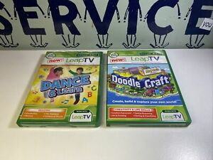 Lot Of 2 New LeapFrog LeapTV Doodle Craft And Dance&learn Education Video Sealed