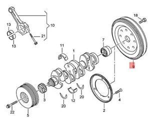 Genuine AUDI VW SKODA SEAT A1 A3 Cabriolet Flywheel 06K105266A