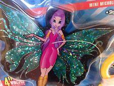 Nip Fairy 4-Inch Mini Microlite Mylar Kite SkyTails Aqua Wing Pixie Purple Hair