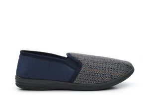 Mens Extra Large Slippers Herringbone Slippers Slip On Navy Size 13/14/15/16