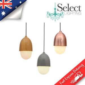 DIPO, Nut Pendant Light Range, Wood Look, Grey, Copper