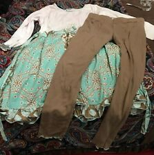 ~ Girls Ann Loren Blue Brown Multi ~ Size 9/10 Dress Pant Suit ~ Make Offer! ~